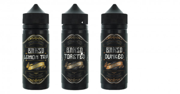 Baked alle Sorten Shake and Vape 100ml UK