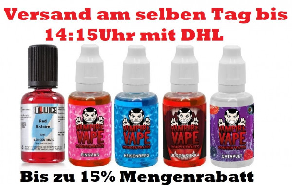 Vampire Vape T-Juice 30ml Aroma Heisenberg, Pinkman Red Astaire